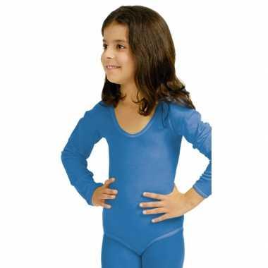 Blauw meisjes turnpak morphsuit