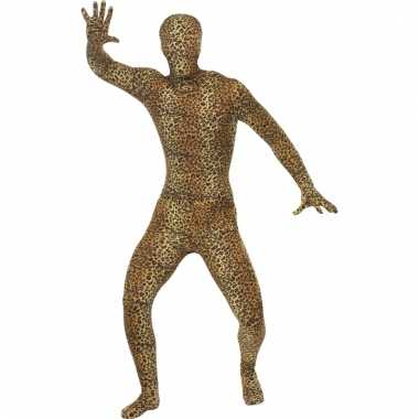 Dieren Second skin suit luipaard morphsuit