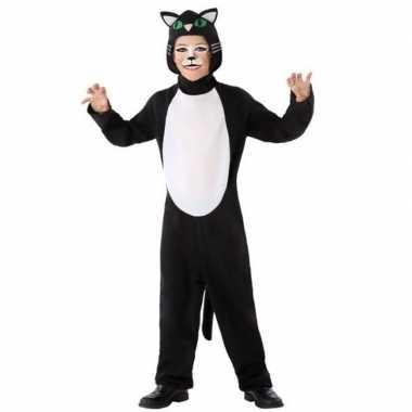 Dierenpak kat/poes verkleed morphsuit kinderen
