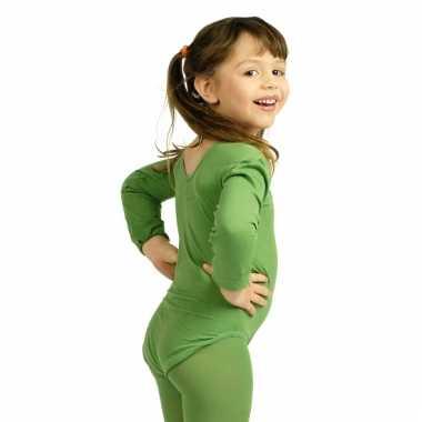 Groen meisjes turnpak morphsuit