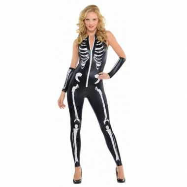 Halloween Skelet morphsuit dames