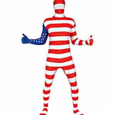 Second skin Amerika vlag morphsuit