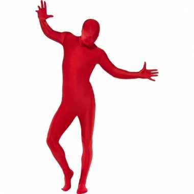Second skin morphsuit rood