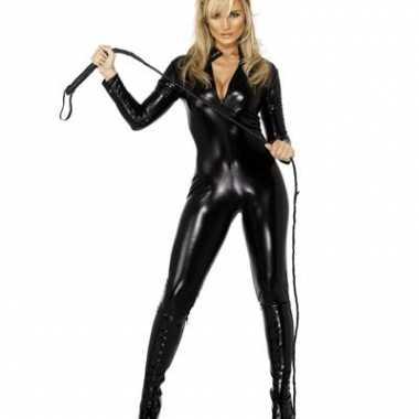 Morphsuit zwart lederlook