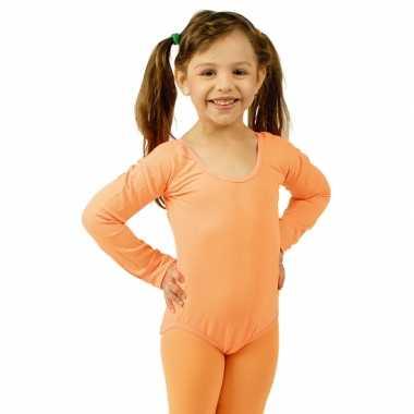 Oranje meisjes turnpak morphsuit