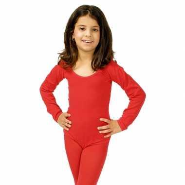Rood meisjes turnpak morphsuit