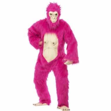 Roze gorilla morphsuit deluxe