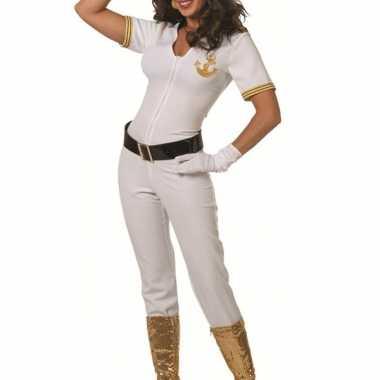 Witte kapiteins morphsuit dames