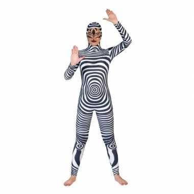 Zebra catsuit/second skin volwassenen morphsuit