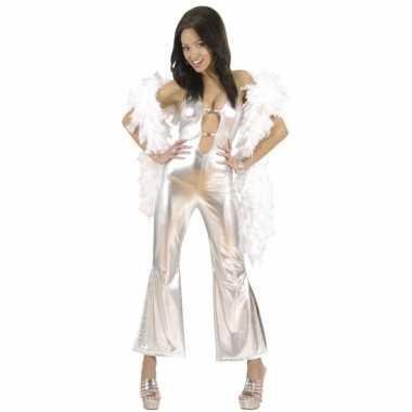 Zilveren catsuit dames morphsuit