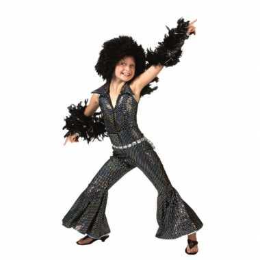Zwart disco suit kinderen morphsuit