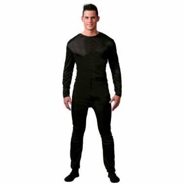 Zwarte morphsuit mannen